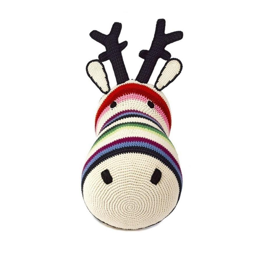trophée tête de renne multicolore anne claire petit