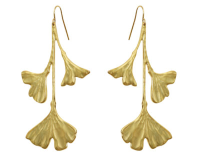 boucles d'oreilles Ginkgo adeline plaqué or by zia