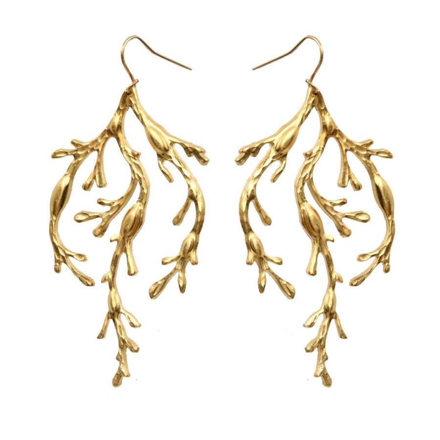Boucles d'oreilles Nessa plaqué or