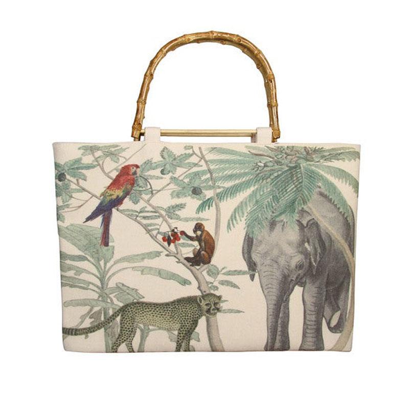sac jungle toile et bambou