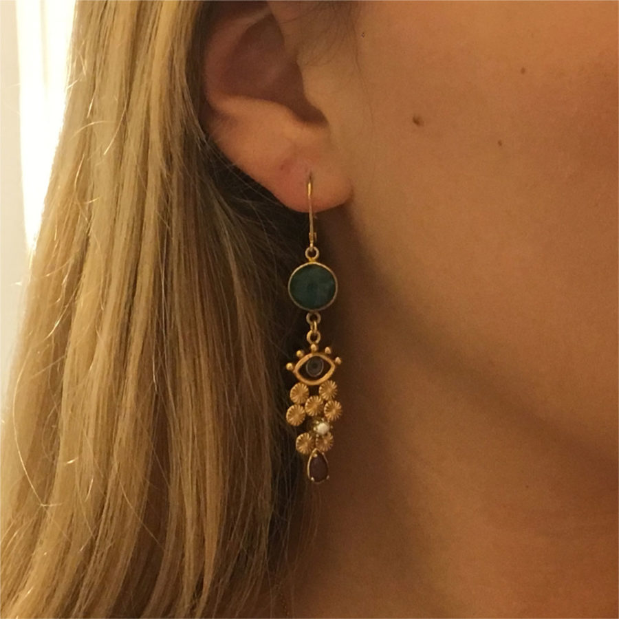 boucles d'oreilles pendantes oeil la2l