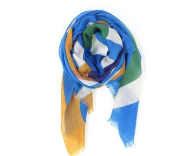 foulard circus bleu mapoésie écharpe