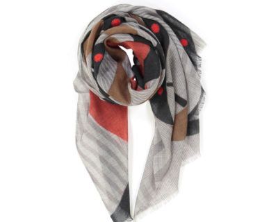 foulard voltige mapoésie brun