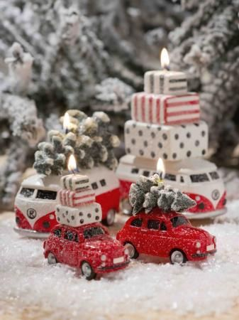 Bougie minibus de Noël