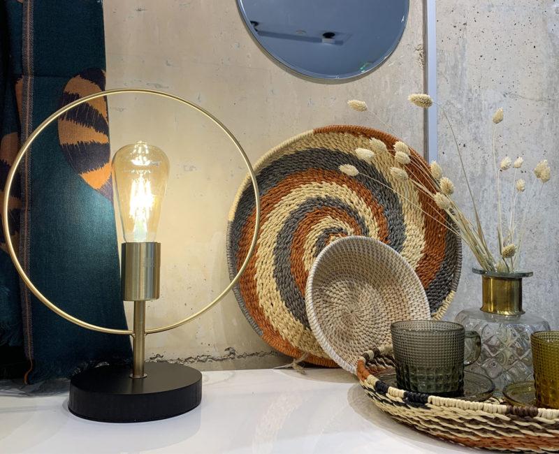 Lampe cercle Ardeco dorée