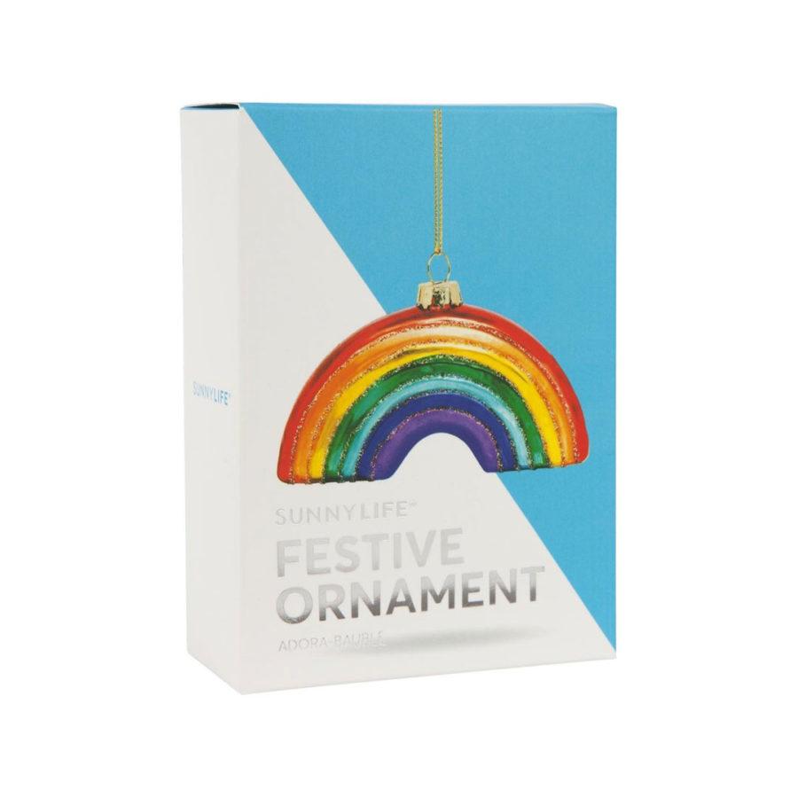 boule de noel arc en ciel festive ornament rainbow