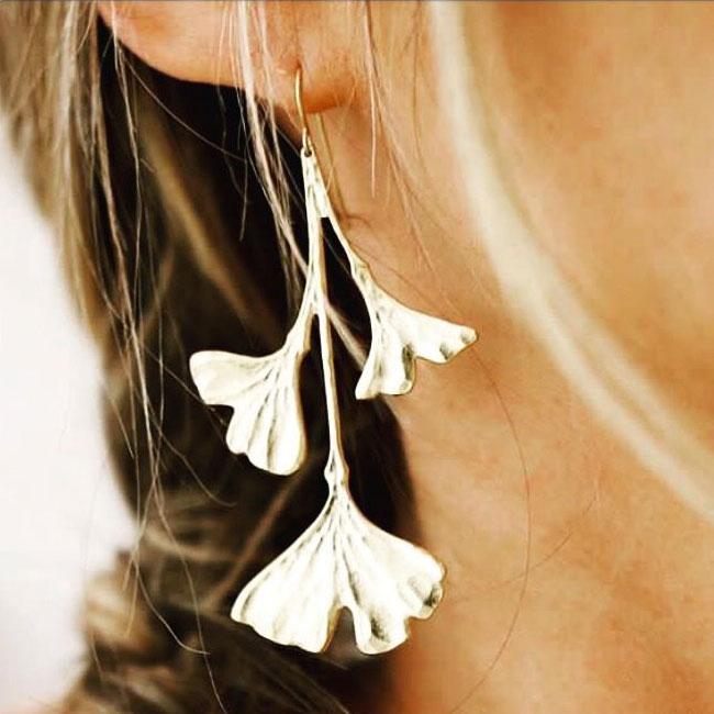 Boucles d'oreilles Ginkgo Adeline By Zia