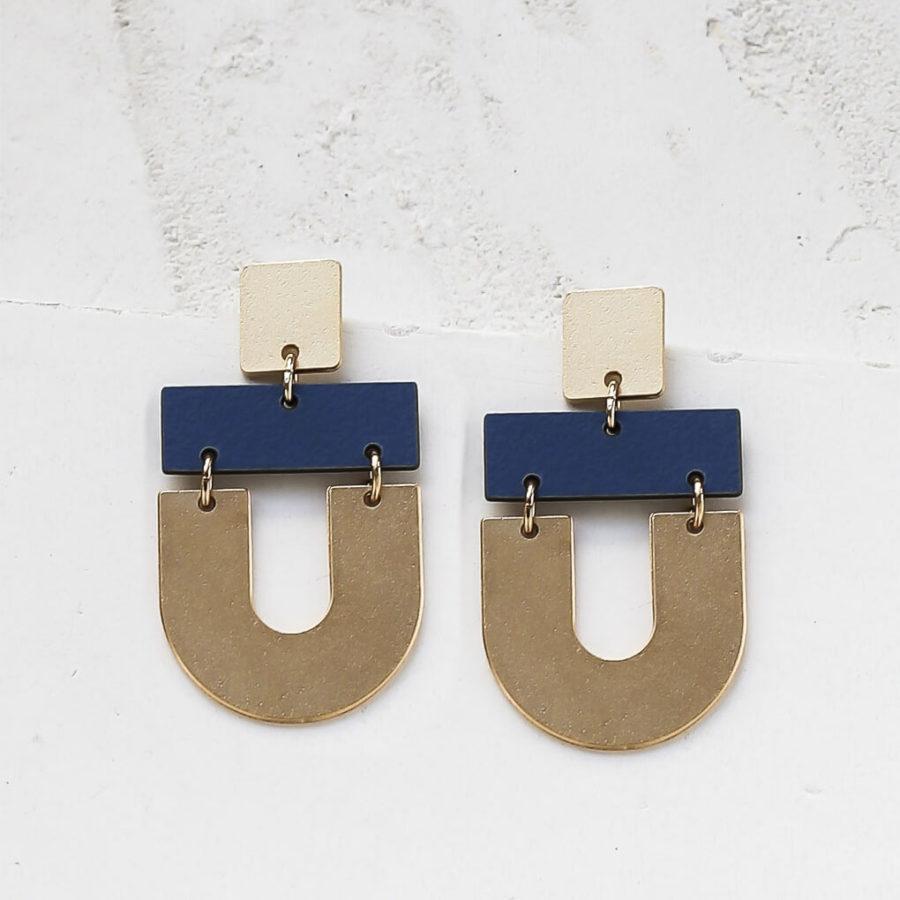 boucles d'oreilles nairobi bleu shlomit ofir