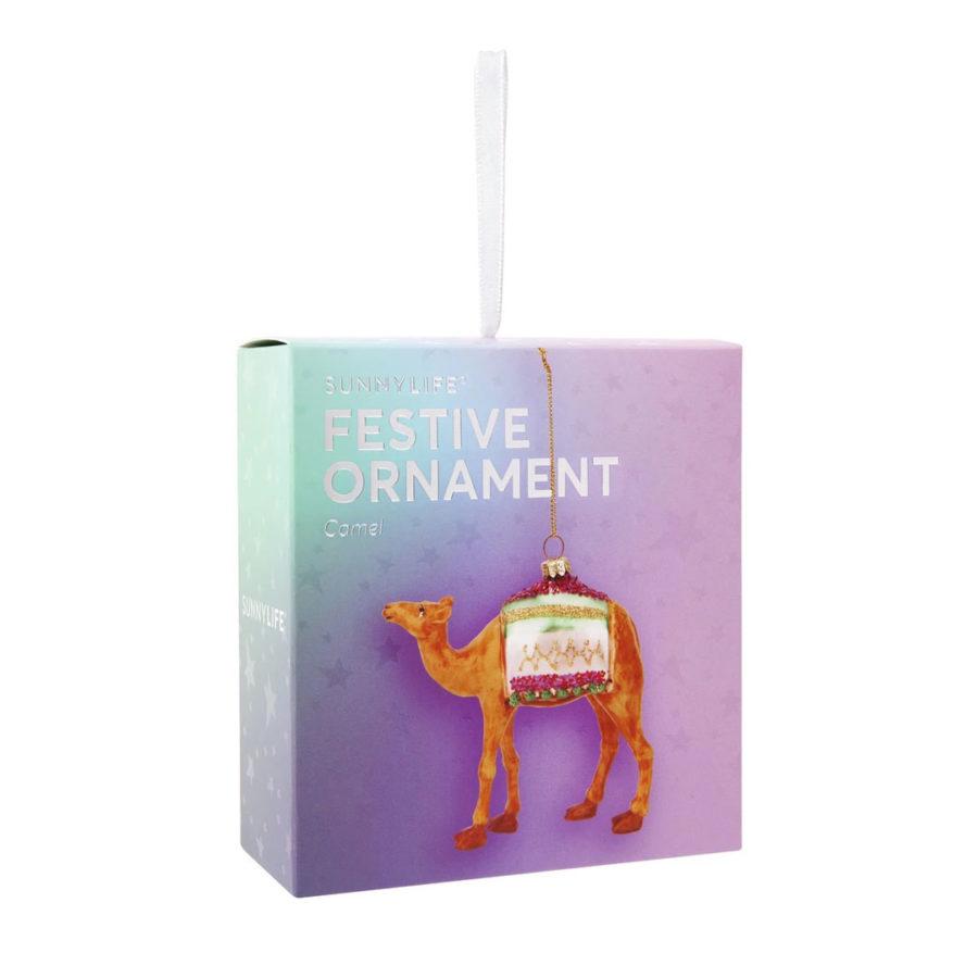 boule de noël chameau camel festive ornament