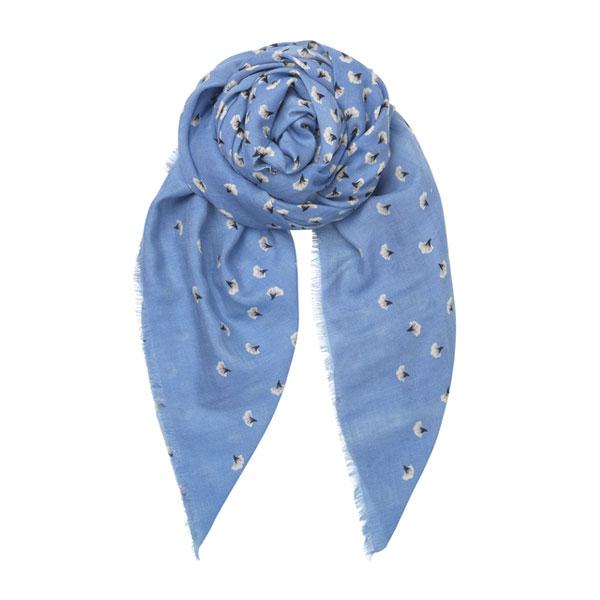 écharpe en laine lynn bleu becksondergaard