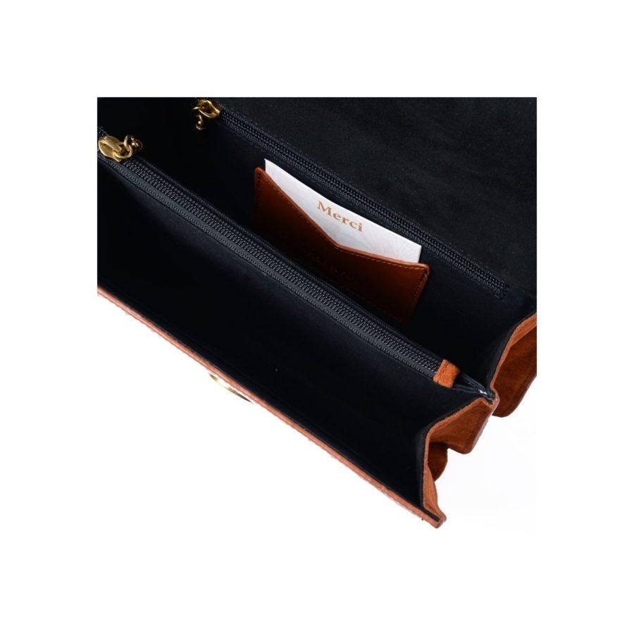 sac hermione nat et nin croco cognac
