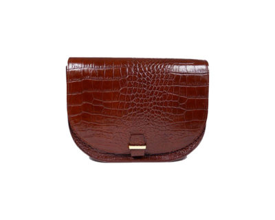 Sac seventies croco marron Mia Lili Cabas
