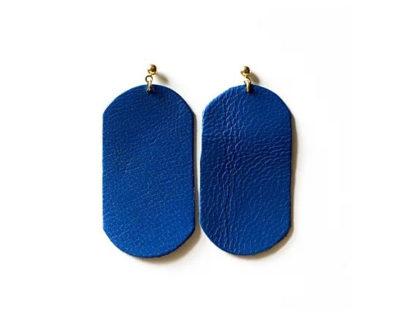 boucles d'oreilles ose bleu mallow