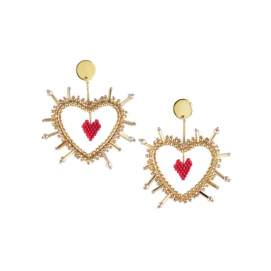 Boucles d'oreilles sacred heart