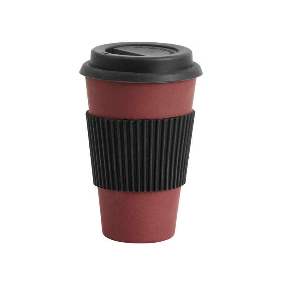 Mug à emporter en bambou rouge nordal