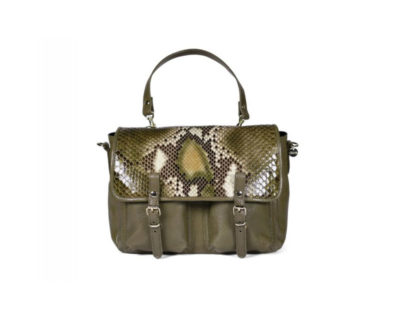sac mini maths python verde kaki craie
