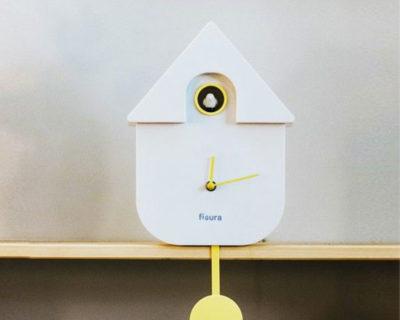 Pendule maison coucou blanc Fisura
