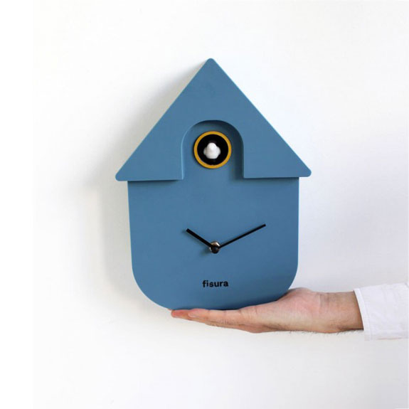 Pendule maison coucou bleu Fisura