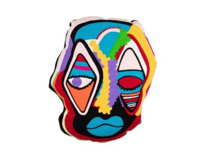 coussin masque kitsch kitchen