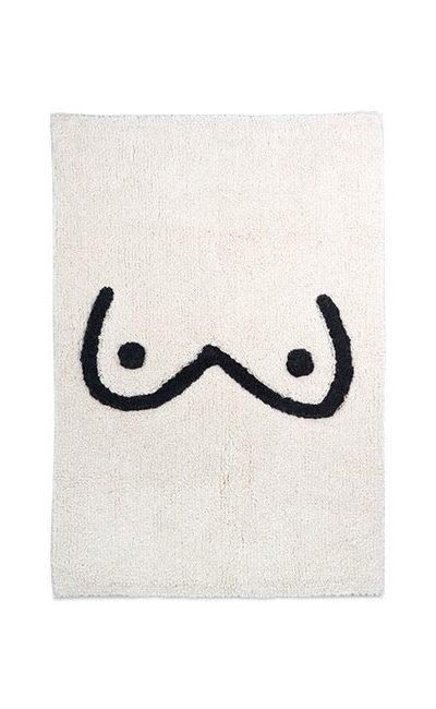 tapis de bain seins kitsch kitchen
