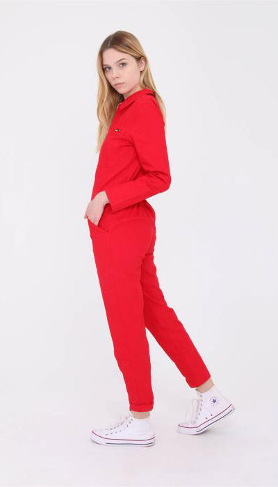 combinaison pantalon daphnea rouge