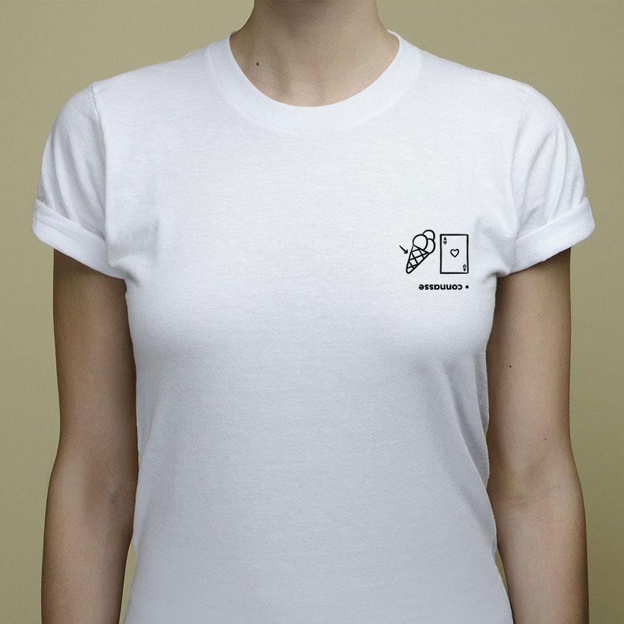 t-shirt connasse rébus