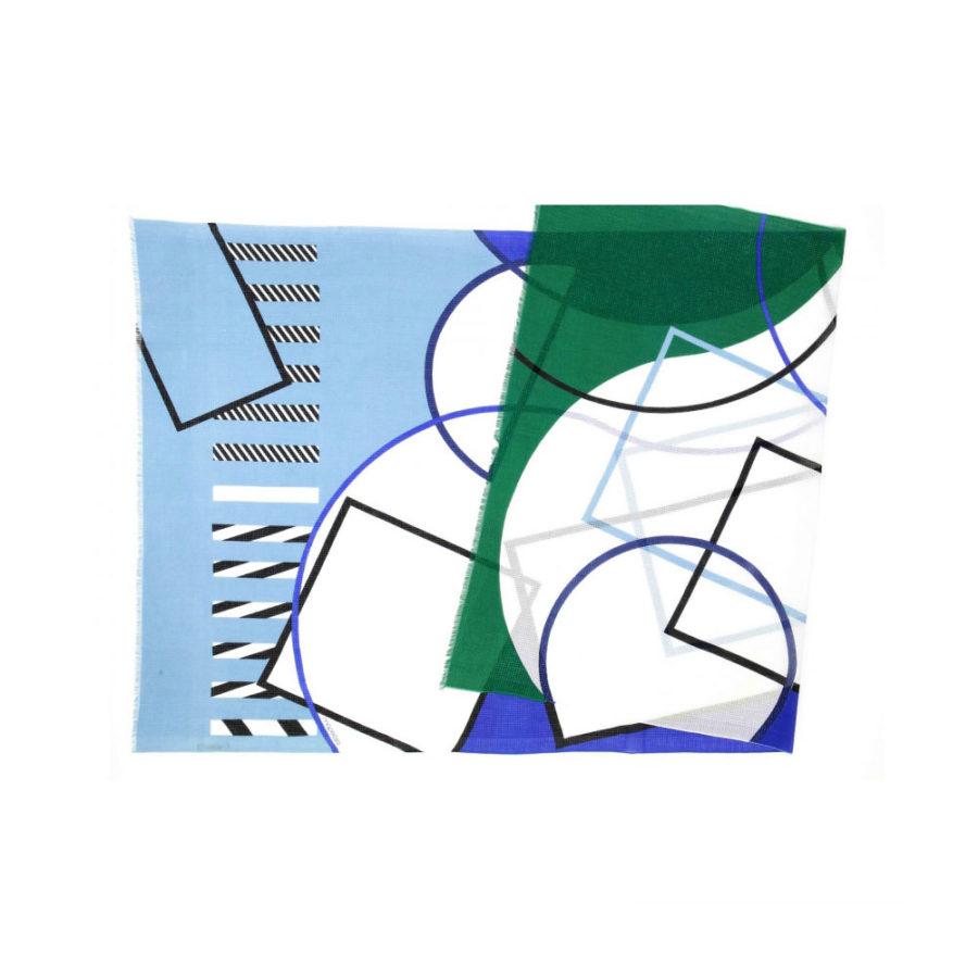 foulard cubista bleu mapoésie