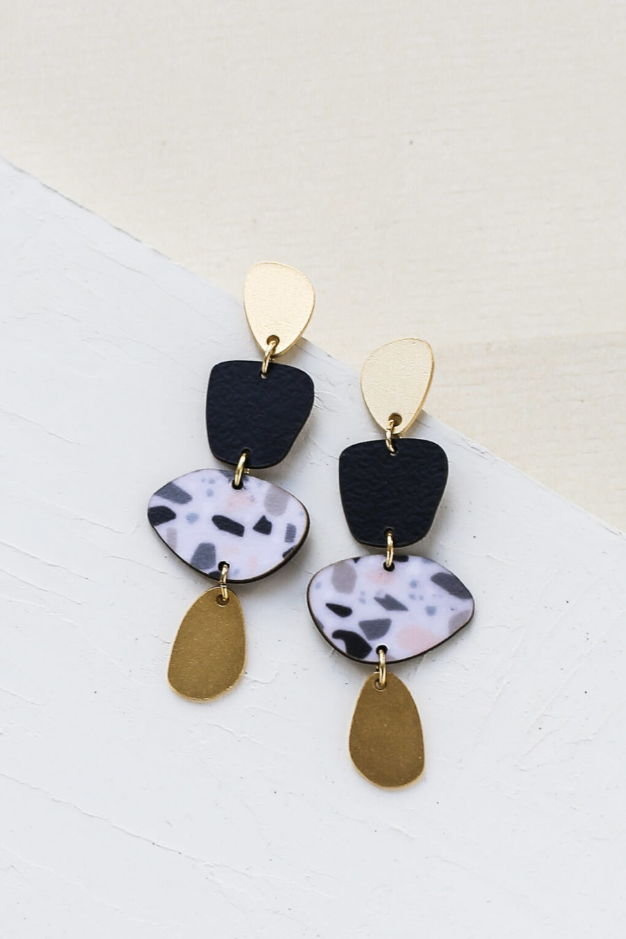 Boucles d'oreilles Calder noir Shlomit Ofir
