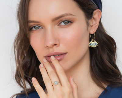 Boucles d'oreilles Oracle bleue