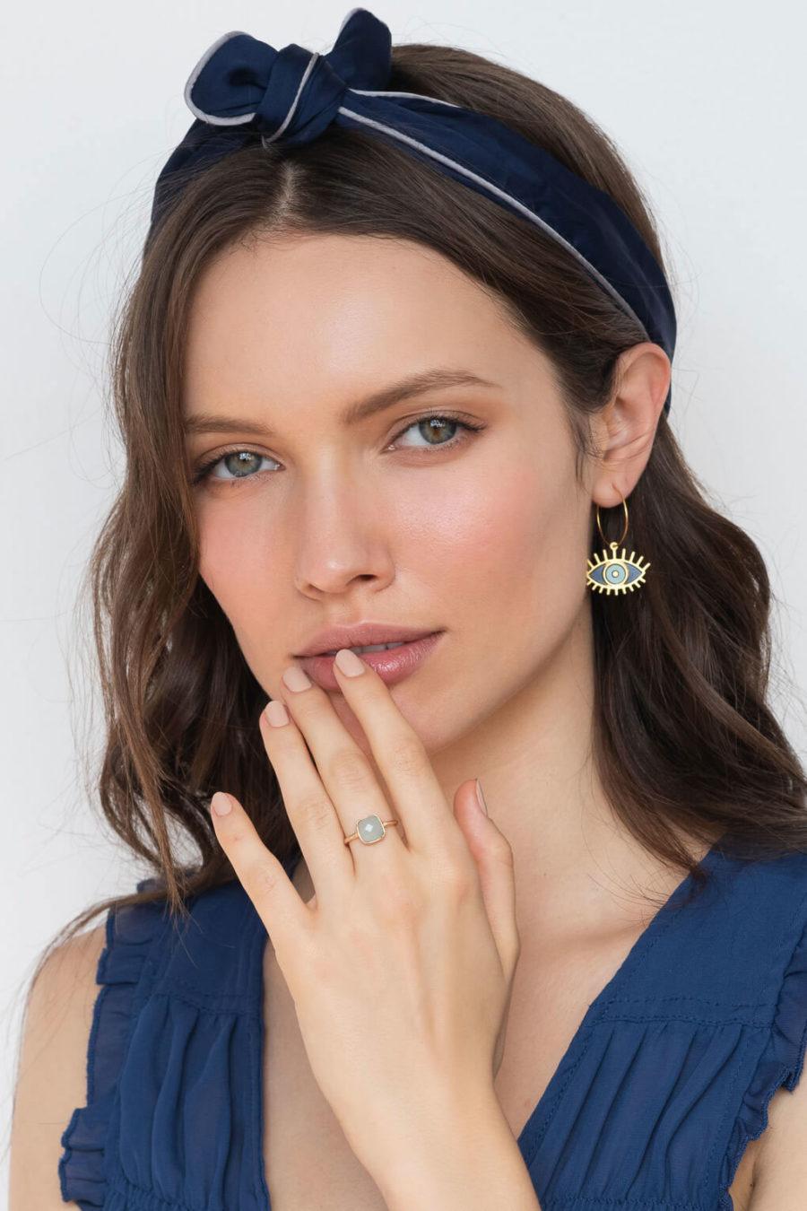 Boucles d'oreilles Oracle bleu Shlomit Ofir