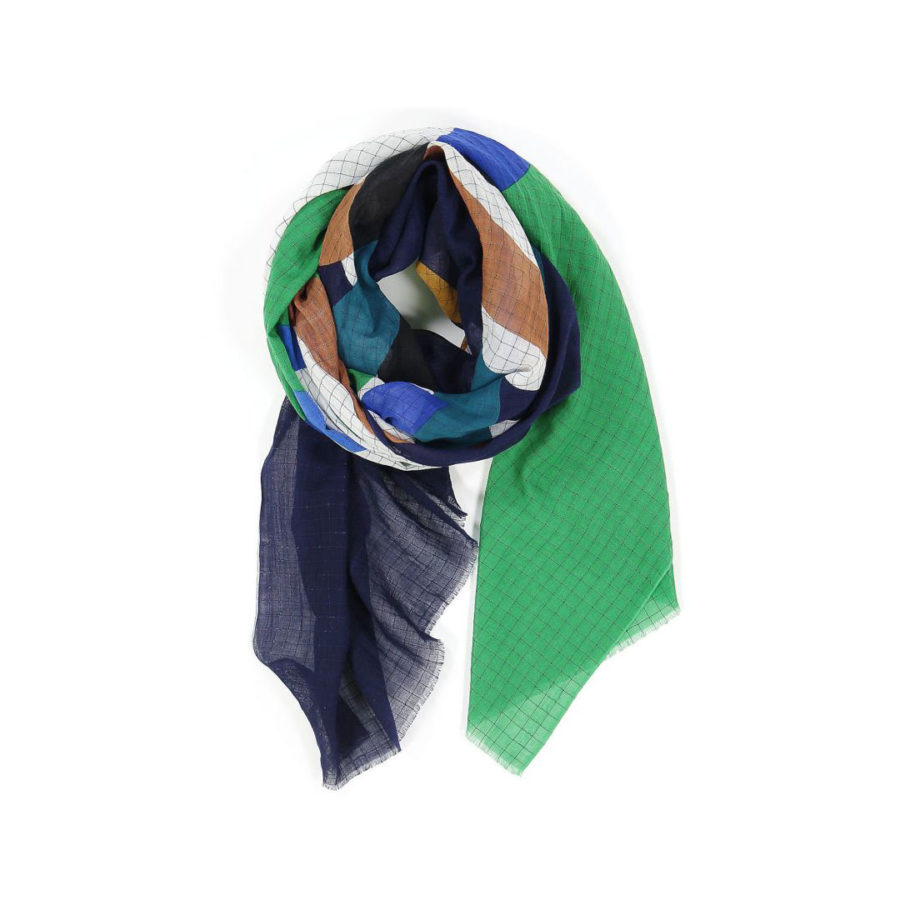 Foulard Icône vert bleu de chez Mapoésie