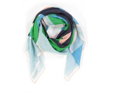 Foulard Vision vert de chez Mapoésie