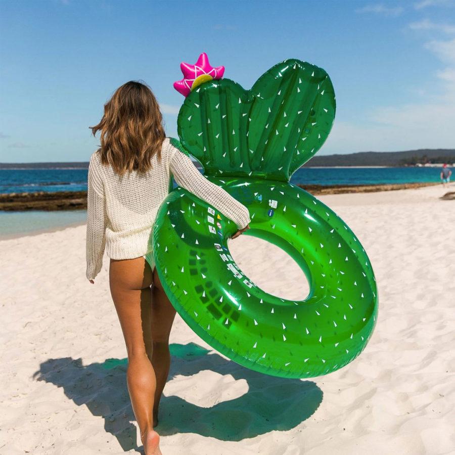 Bouée gonflable cactus Sunnylife