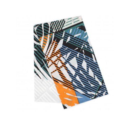 foulard végétal bleu gris mapoésie