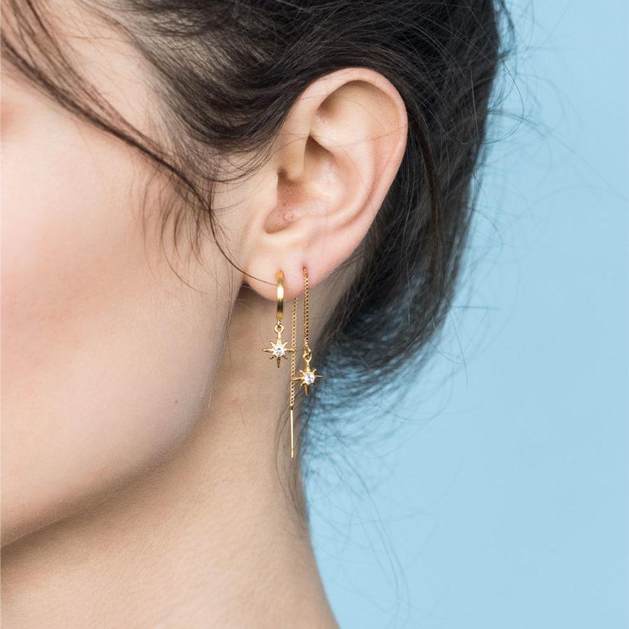 boucles d'oreilles créoles mythos Shlomit Ofir