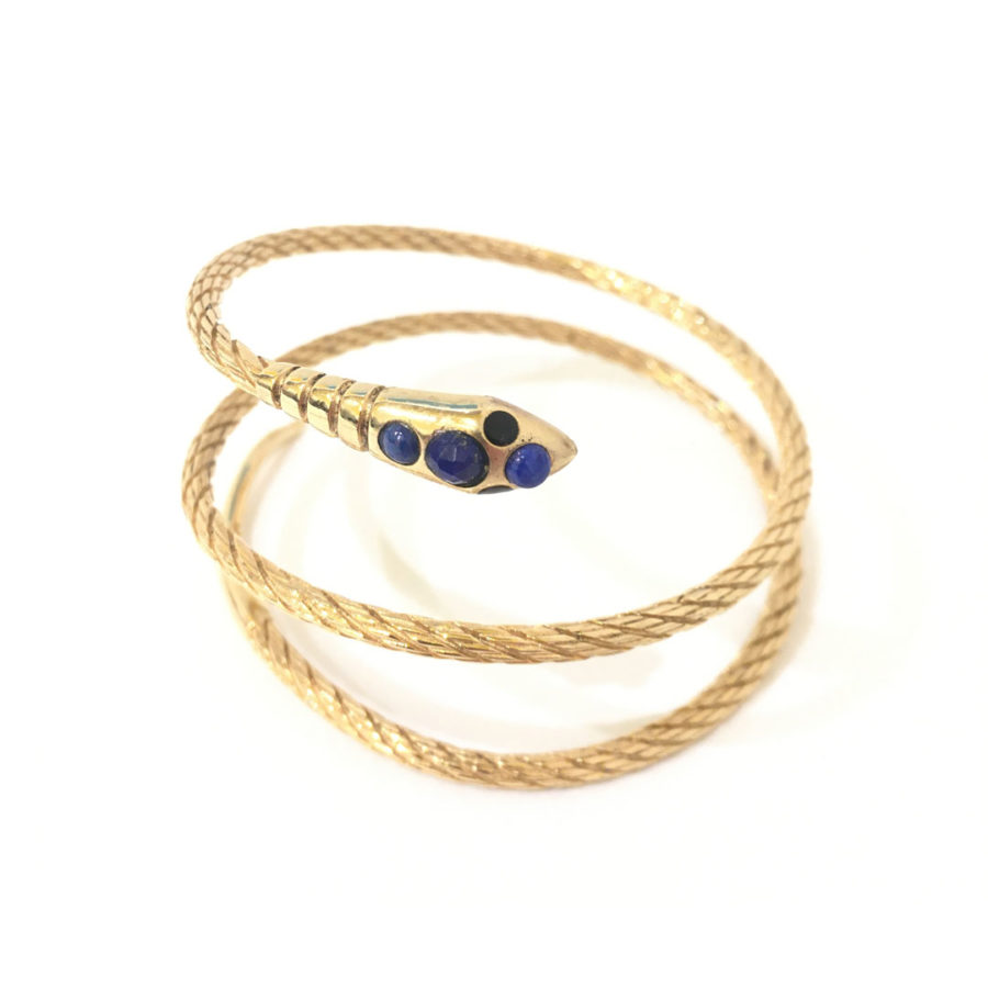 bracelet sissi serpent bleu la2l