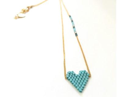 collier heartsy bleu mishky