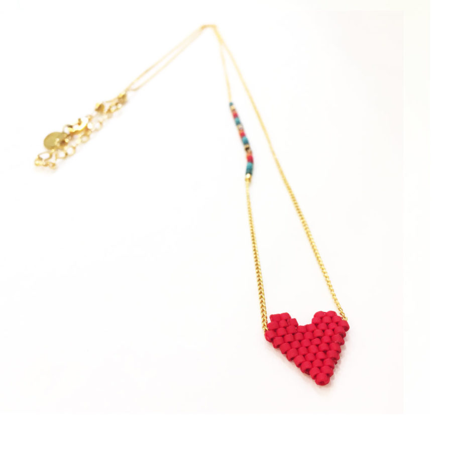 collier heartsy rouge mishky