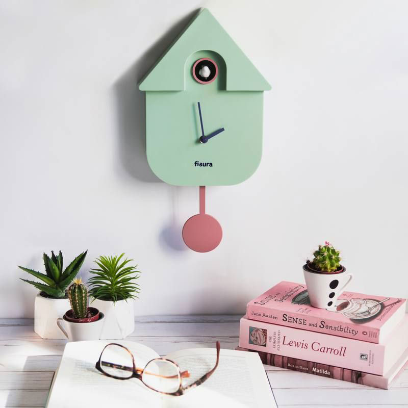 Pendule maison coucou menthe Concept Store Made by moi