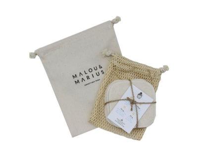 Lingettes démaquillantes lavables bio Malou & Marius
