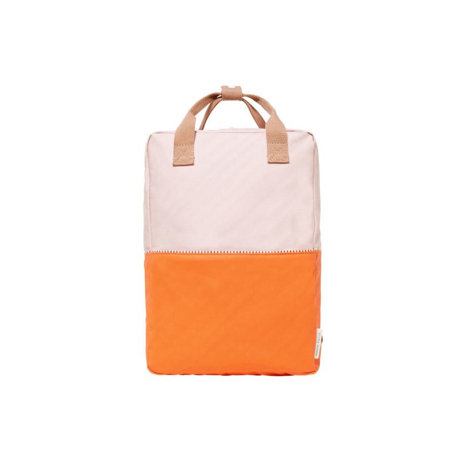 Sac à dos Colourblocking L rose/orange