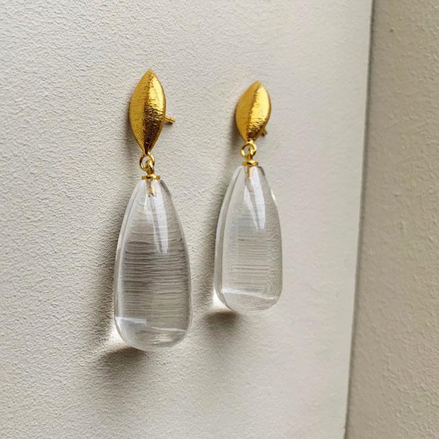 boucles d'oreilles goutte corine cristal Shyla London