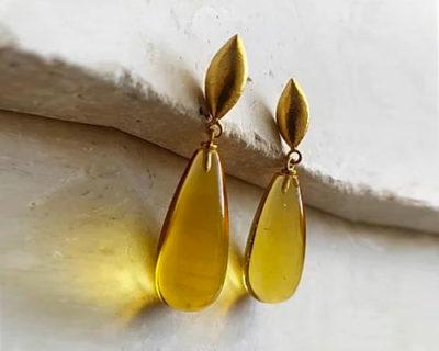 boucles d'oreilles goutte corine citrine Shyla London