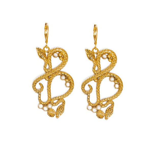 boucles d'oreilles serpent Sissi nacre LA2L