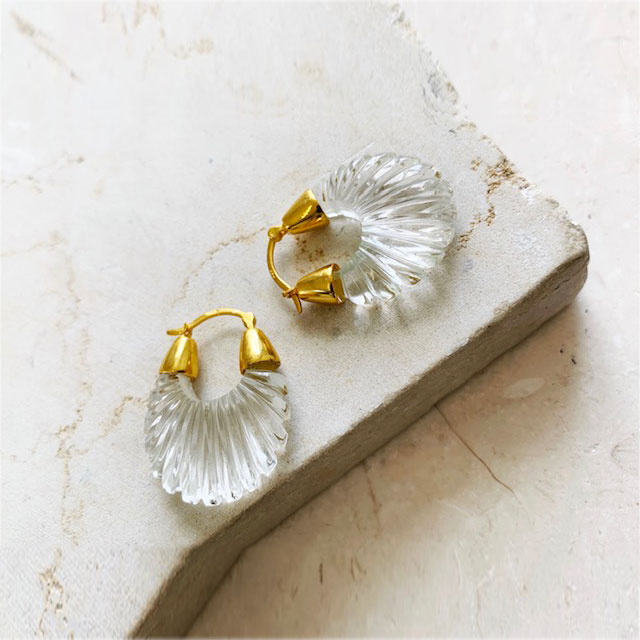 Mini créoles striées cristal Ettienne Shyla London