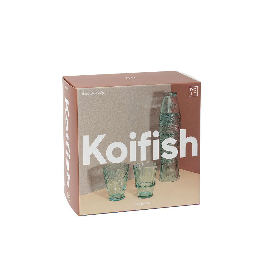 verres empiables koi fish poisson DOIY