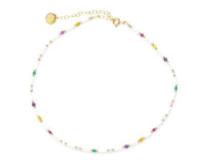 Ras de cou perles multicolores