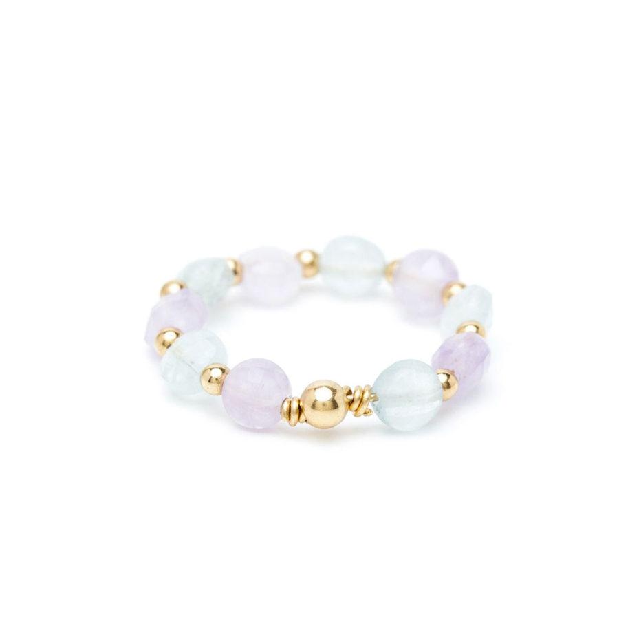 bague aigue marina jade perles yay