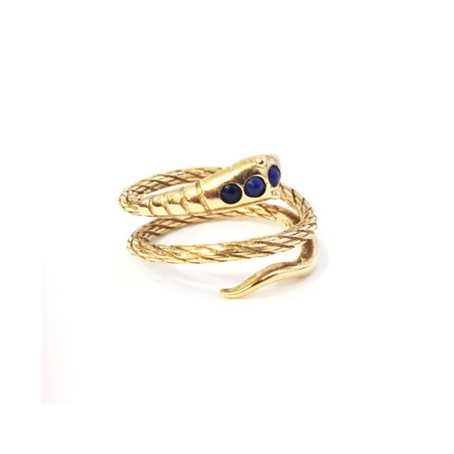 bague sissi serpent bleu