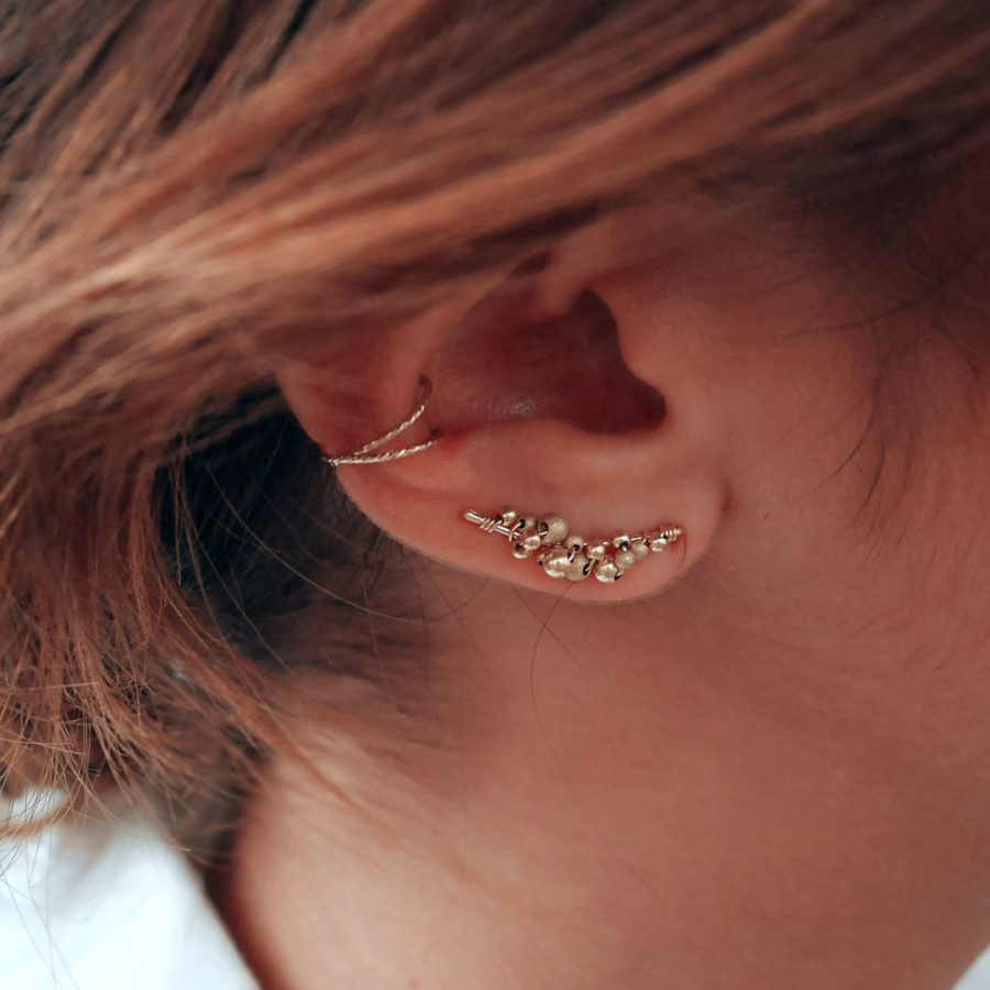 Boucles d'oreilles cuff cosmic galaxie yay